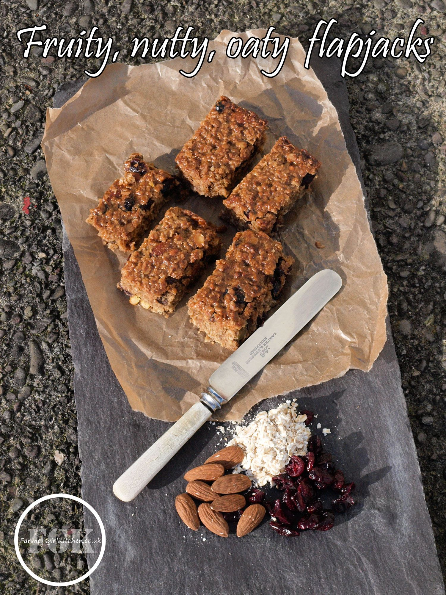 47 Recipe Tasty Fruity Flapjacks: Fruity, Nutty, Oaty Flapjacks #Oats #flapjacks #recipe