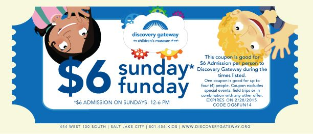 Discount Coupon For Discovery Gateway Children S Museum In Salt Lake