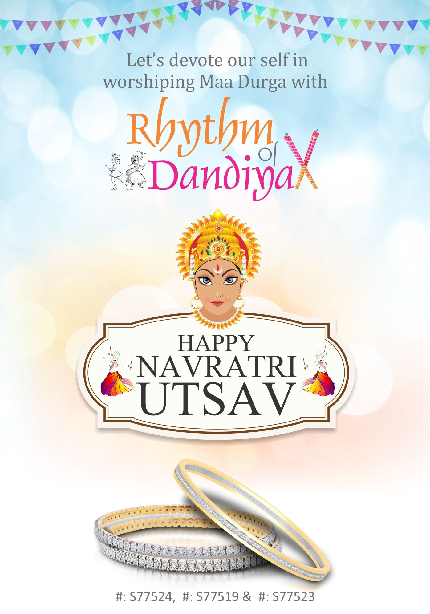lets devote our self in worshiping maa durga with rhythm