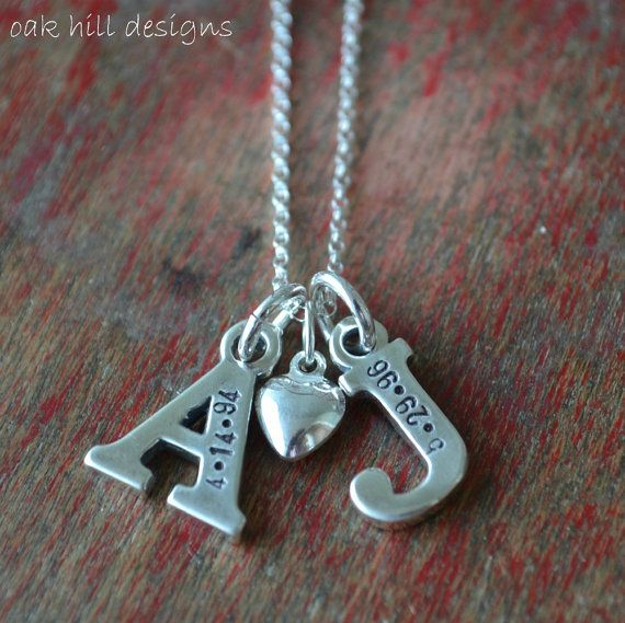 I love this! Child's initial and birthdate! ♥