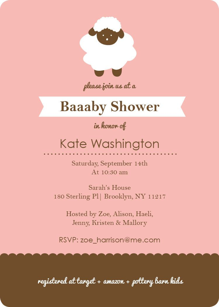 Sheep Baby Shower Invitation   Shower invitations and Babies