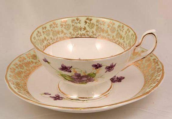 Sweet Violet Tea Cup