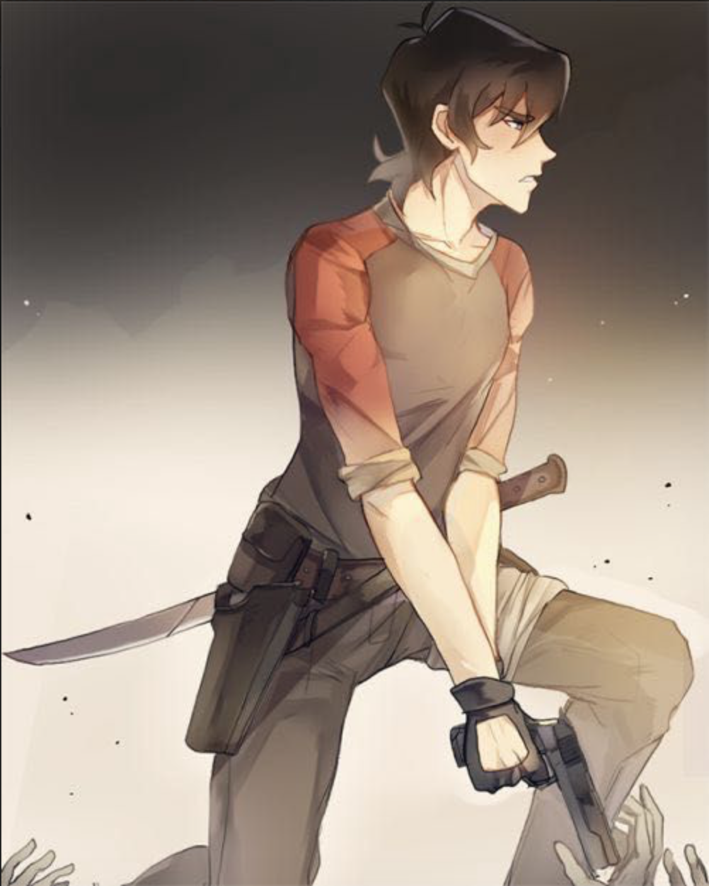 Keith in The Walking Dead from Voltron Legendary Defender | Voltron