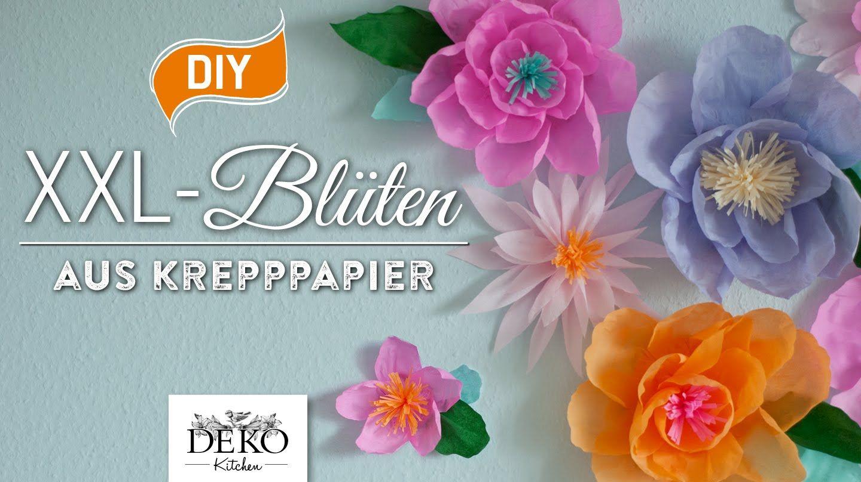 DIY: Riesige Blüten aus Krepppapier für Wanddekos selber machen Teil 1[H...