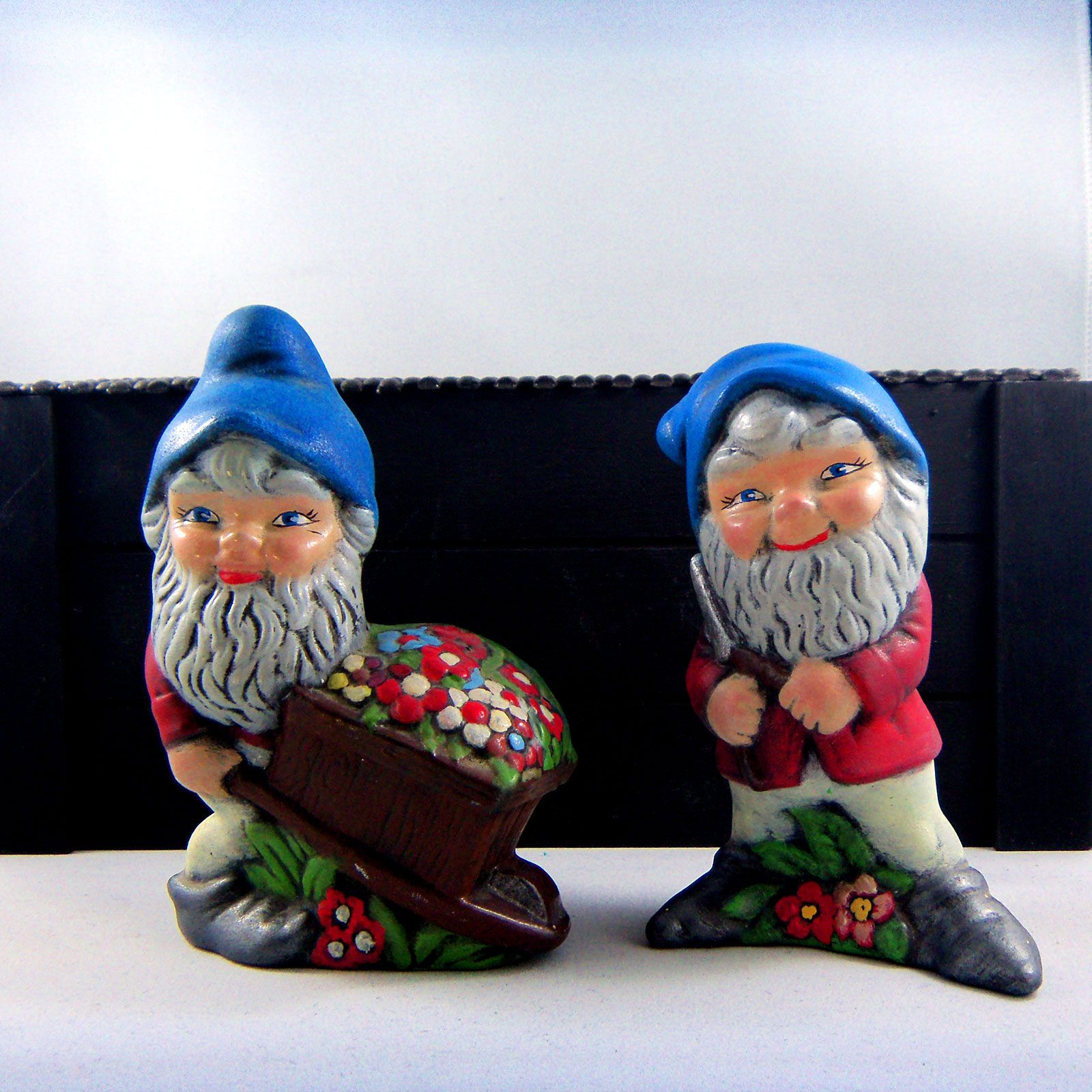 Vintage 1960/'s Gnome Hand Painted Ashtray