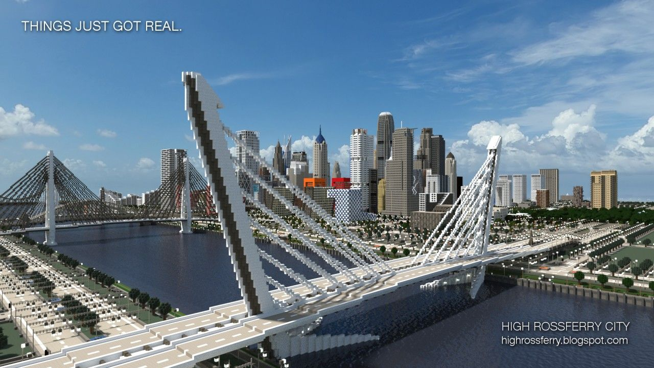pictures of modern minecraft cities | city a realistic modern city 218 high  rossferry a realistic