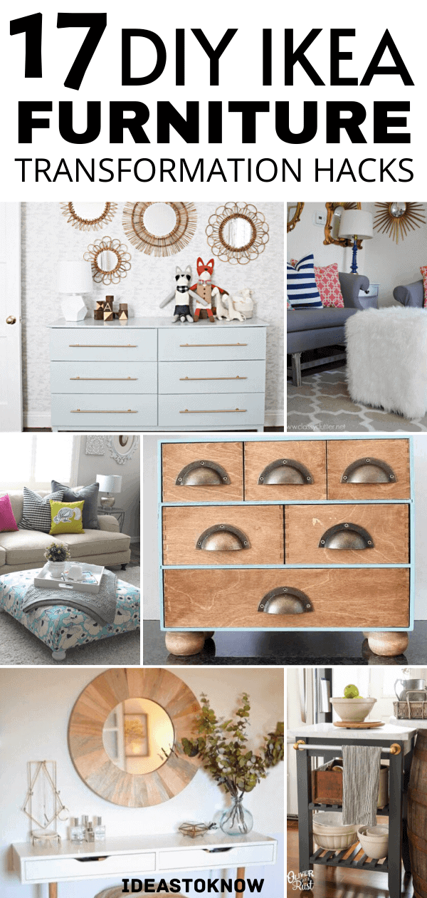 Transform your furniture in low budget with these diy ikea hacks specifically designed for the purpose. Ikea hacks are a great way to create something stylish and unique furniture. #ikeahacks #furniturehacks #ikea #homedecor #diy