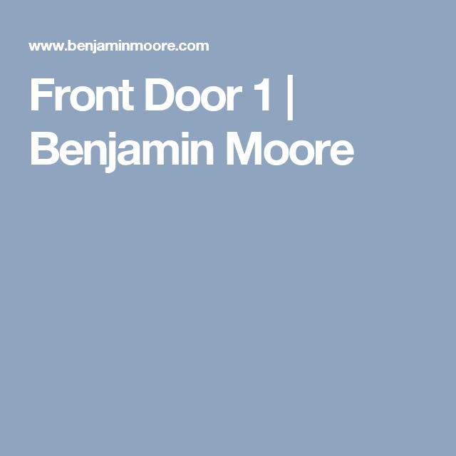 Front Door 1 | Benjamin Moore