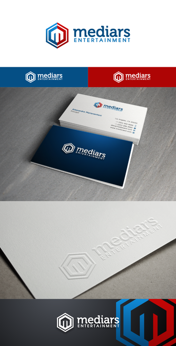 entertainment company business cards by Heroe   RB Construction