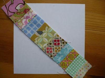 Miss Print: Tutorial: Pieced Centre String Quilt Block … | Pinteres… : string pieced rag quilt pattern - Adamdwight.com