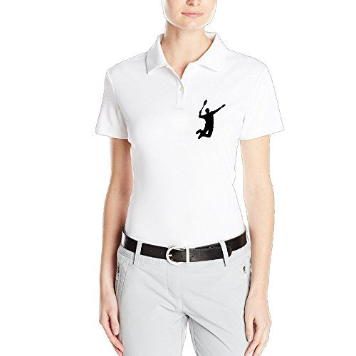 HAOXIN Womens USA Badminton Hero Polo T ShirtsTee >>> You can get more details by clicking on the image.(This is an Amazon affiliate link and I receive a commission for the sales)