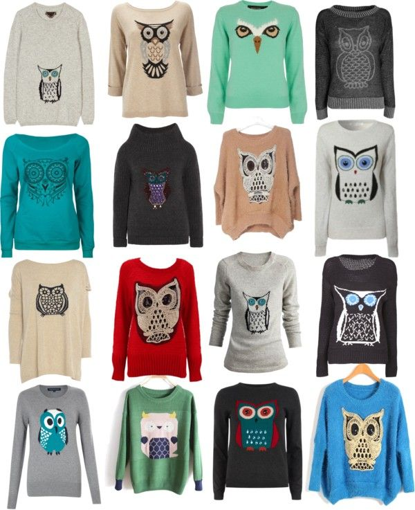 """Owls are good luck.. Okay?"" by marwsay on Polyvore"