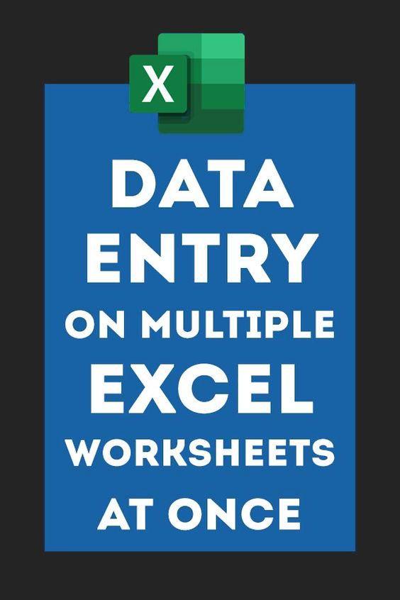 Photo of #Excel #Tricks: Data Entry on Multiple Worksh