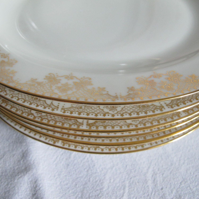 limoges france porcelaine 6 tr s belles assiettes plates en porcelaine fine de limoges blanches
