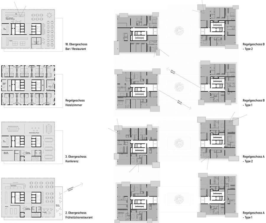 Bildergebnis f r erschlie ung hochhaus uni uni for Universitat architektur