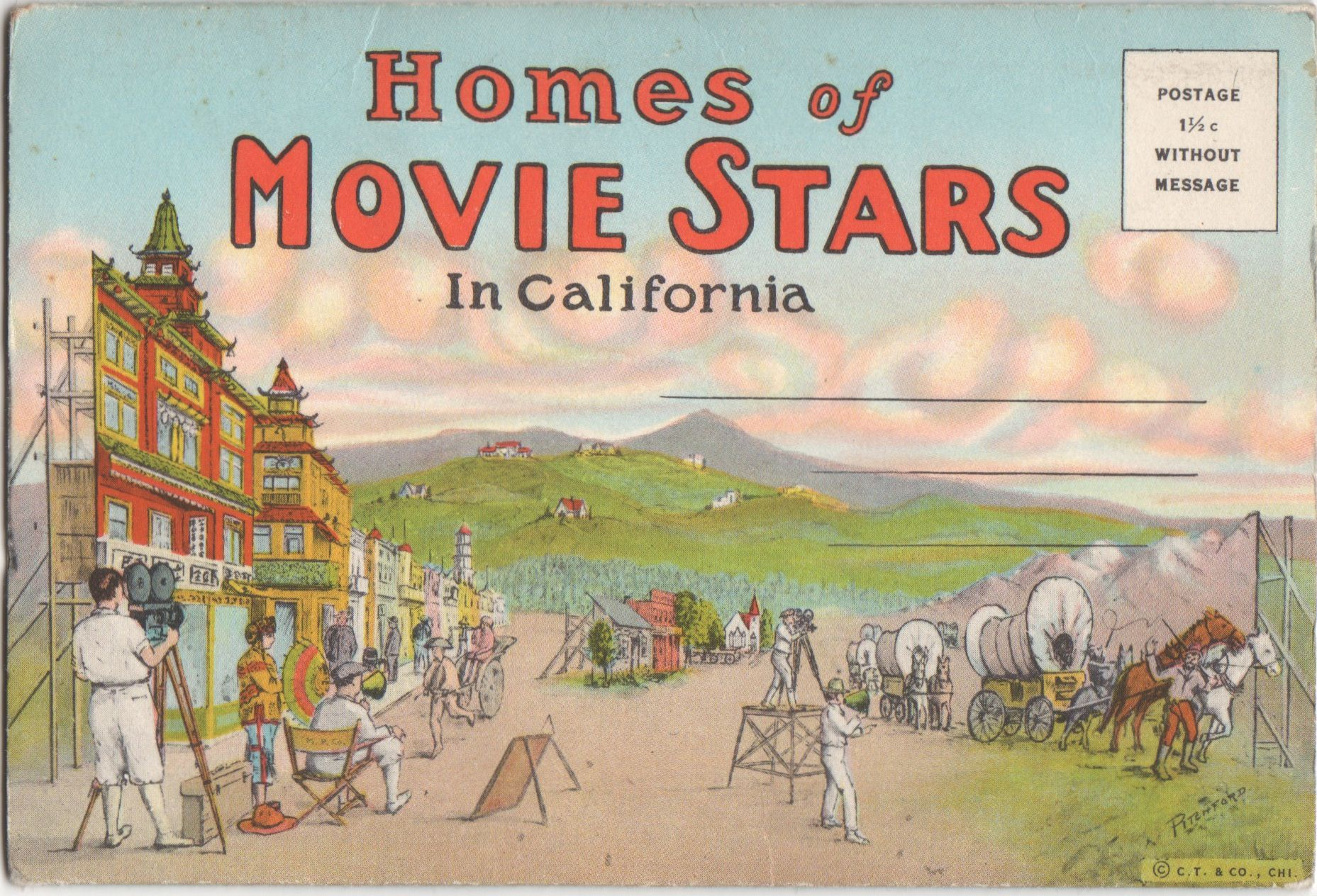 Beverly Hills Movie Star Home postcards