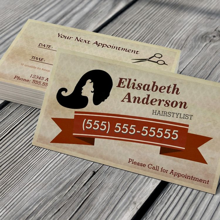 Hair Stylist Vintage Call For Appointment Card Business Card - Free customizable business card templates