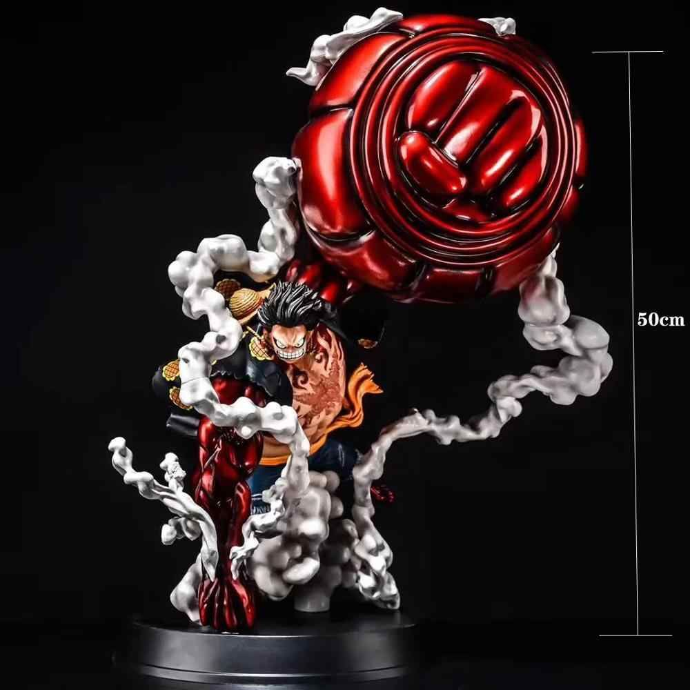 New High Quality Large Size Anime Figure One Piece Gk Monkey D Luffy Gear 4 Oversize 50cm Pvc Anime Figure Model Collection Toys Action Figures Aliexpress One Piece Figurine Action Figure