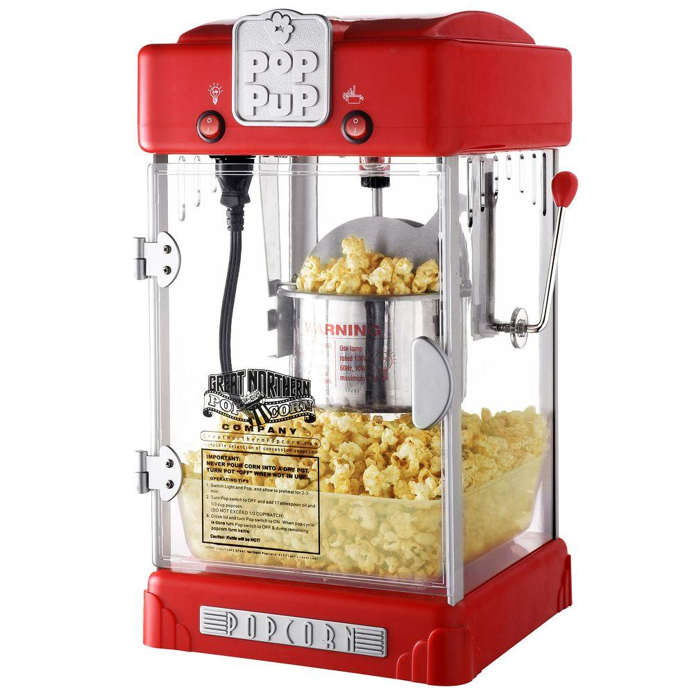 Great Northern Pop Pup 2 5 Oz Red Countertop Popcorn Machine With