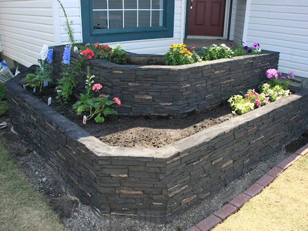 how to build flower beds with stone