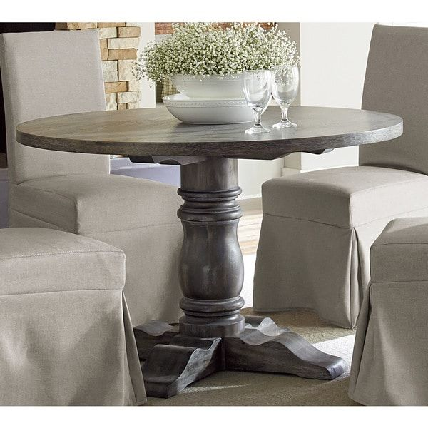 Muses Grey Finish Round Dining Table House Decor Round