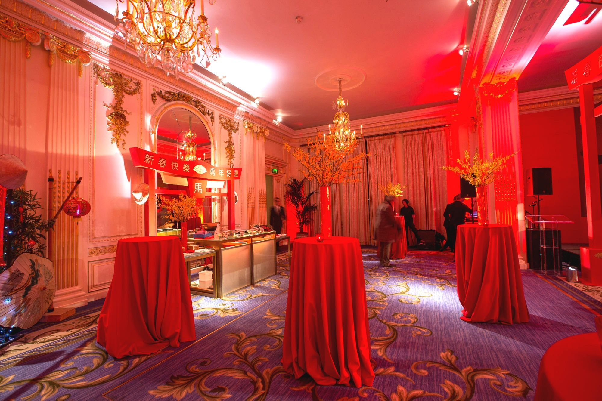 Chinese New Year set up in the Ballroom Hotel venues