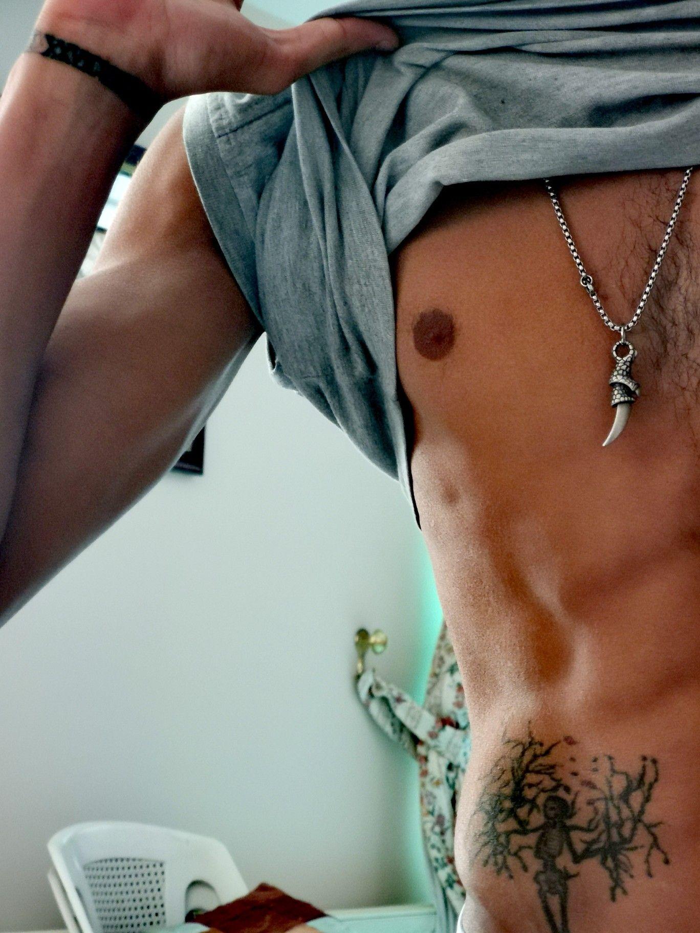 Stomach V Line Tattoo