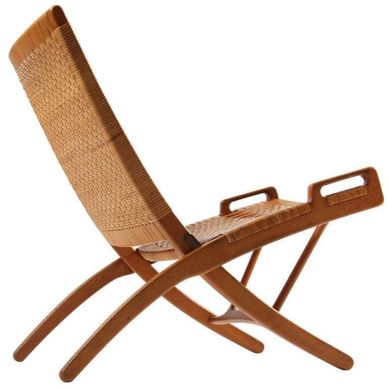 Oak And Cane Folding Chair By Hans Wegner Folding Chair Wood