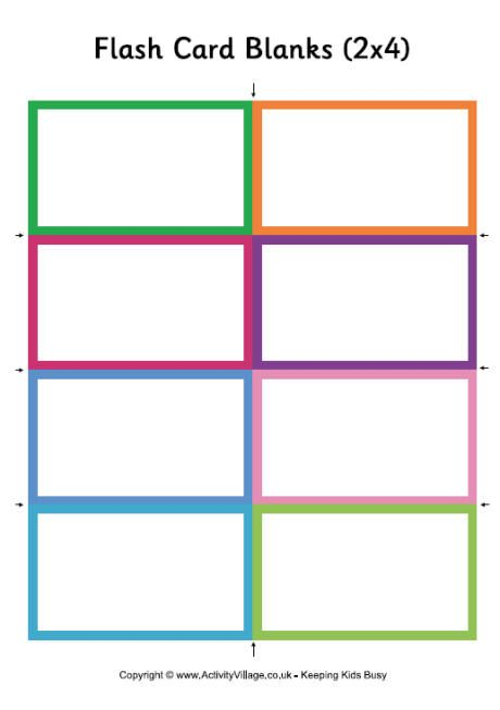 Flash Card Blanks Small Vocabulary Flash Cards Printable Flash Cards Flash Card Template