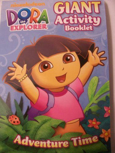 Dora The Explorer Giant Activity Booklet Adventure Time 224 Pages By Viacom International 1 94 Made In The Us Maze Game Coloring Books Dora The Explorer