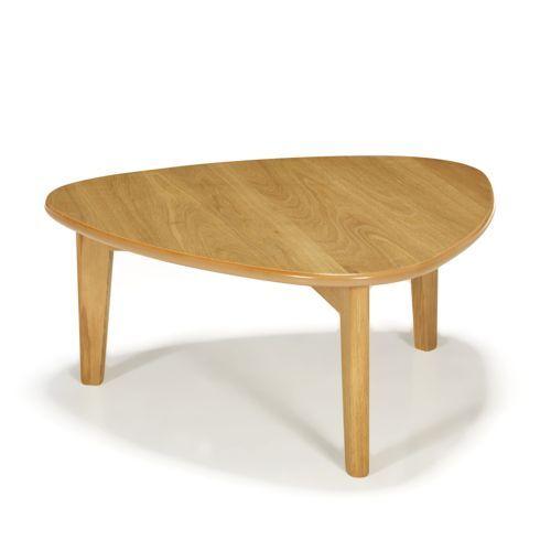 siwa table basse triangulaire en ch ne h27cm bas vintage table basse chene et profondeur. Black Bedroom Furniture Sets. Home Design Ideas