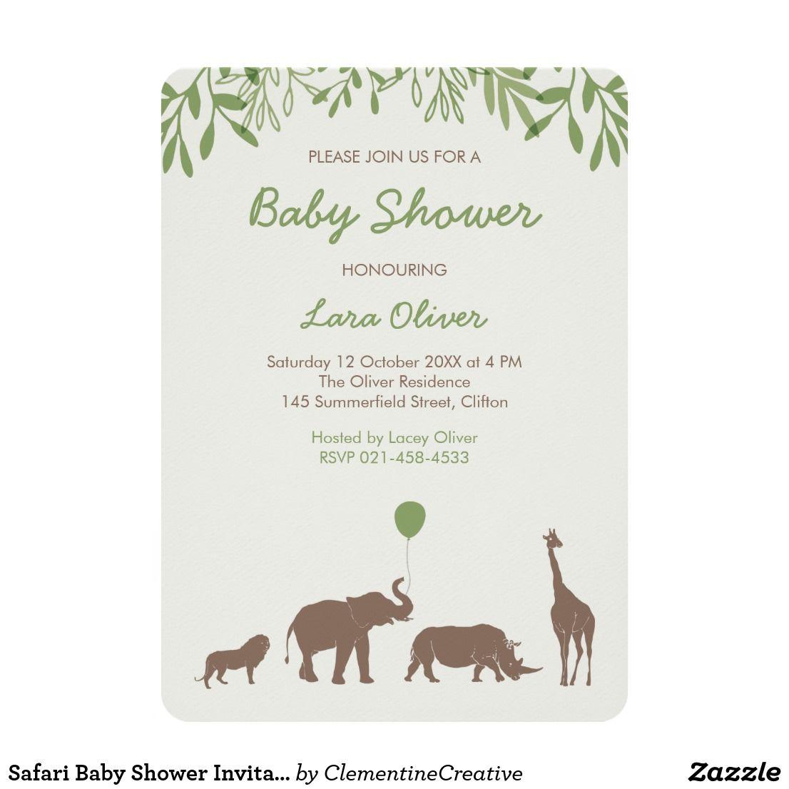 Safari Baby Shower Invitation | Shower invitations