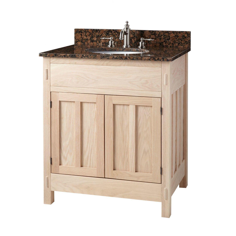 24 Unfinished Narrow Mission Hardwood Vanity For Undermount Sink Bathroom Unfinished Bathroom Vanities Bathroom Vanity Vessel Sink Vanity [ 1500 x 1500 Pixel ]