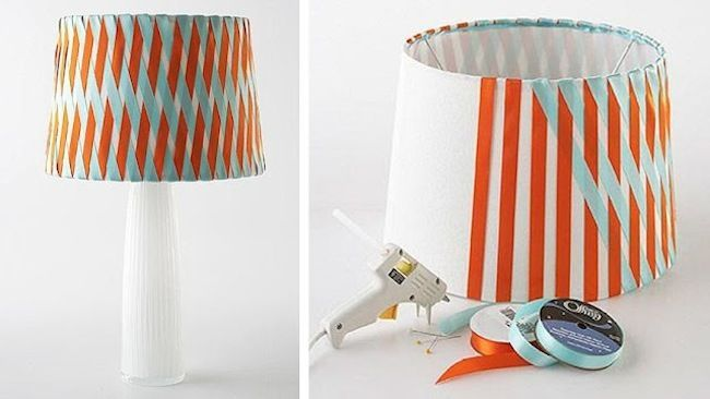 Diy Lamp Shades Inspiration 13 Thrifty And Clever Lamp Shade Makeovers  Ribbon Lamp Shades And Decorating Design