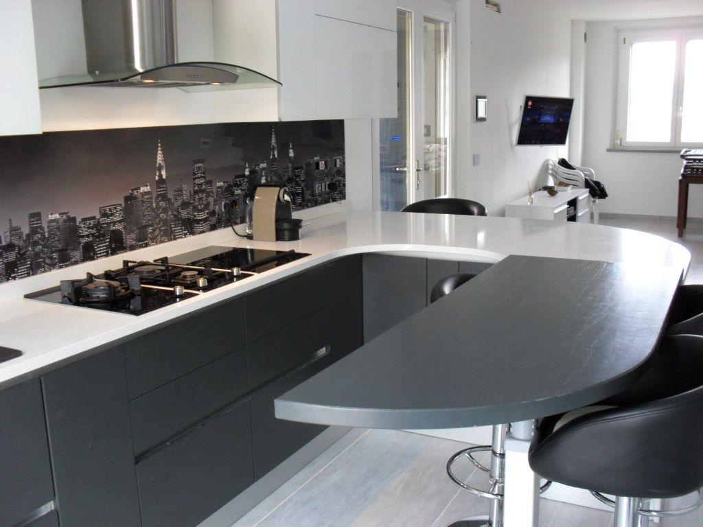 Cucine Bianco Grigio : Cucina doimo modello city aspen rovere grigio antracite nelle