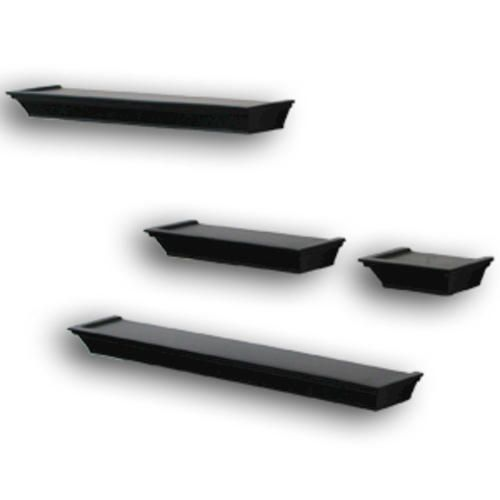 4 Piece Decorative Ledge Set Black At Menards Menards Wall Mounted Shelves Decor