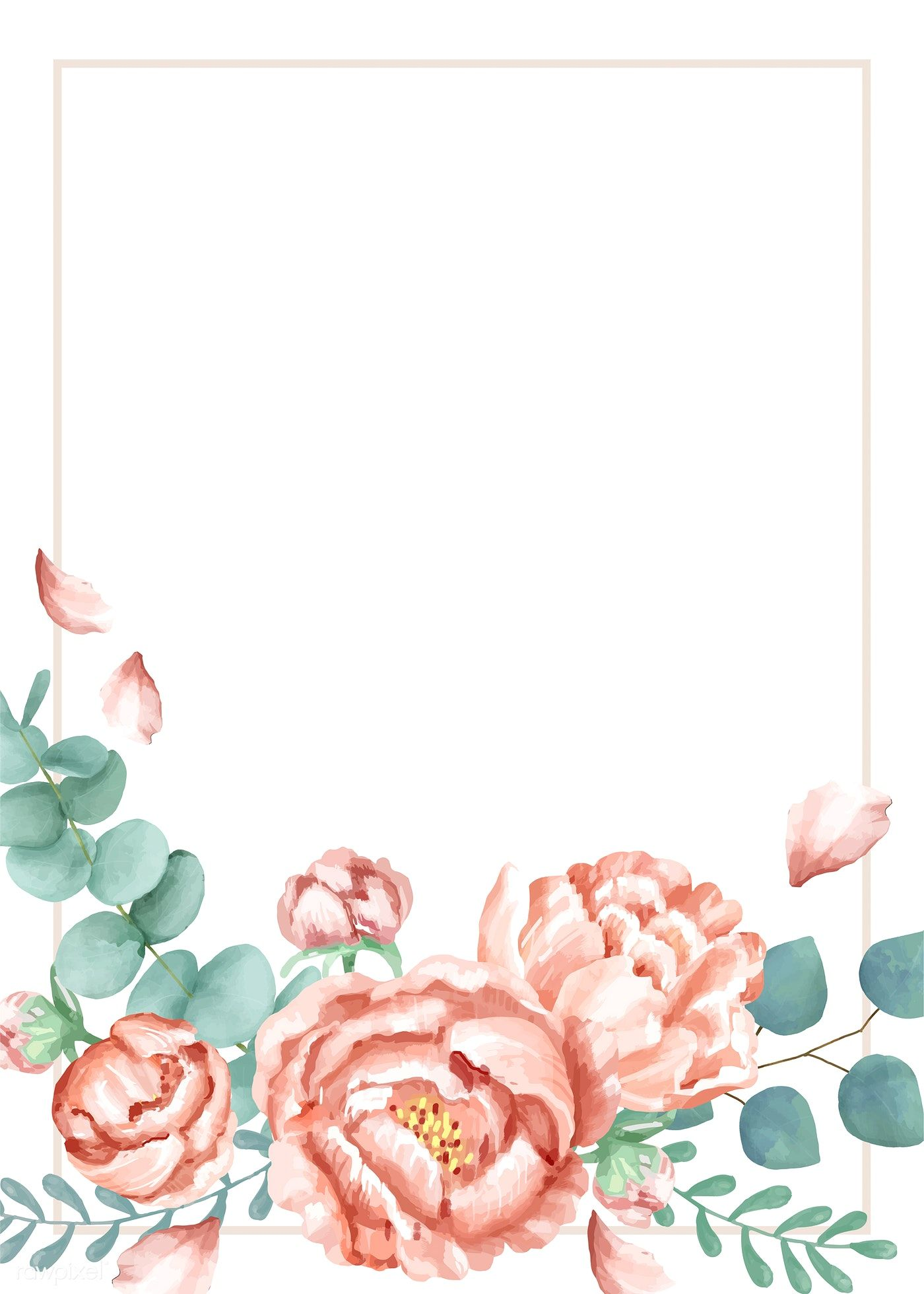 Invitation Card With A Floral Theme Free Image By Rawpixel Com
