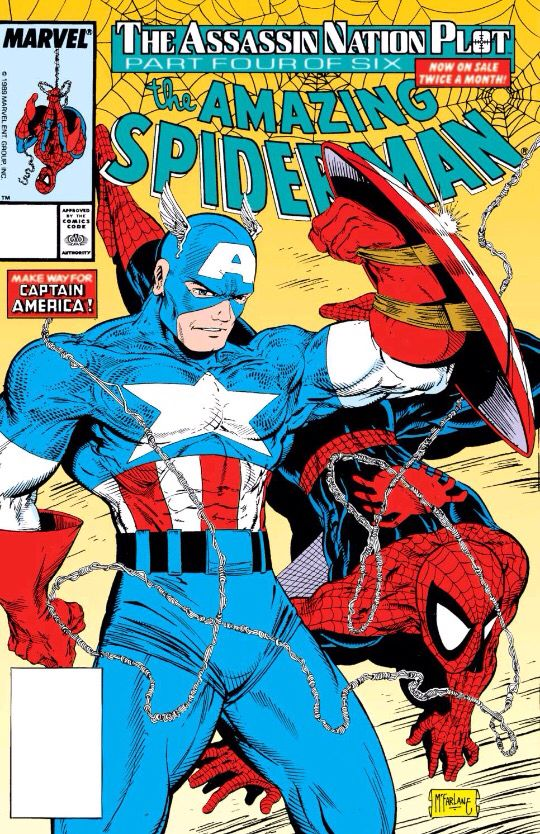Captain america and spiderman by todd mcfarlane 1989 amazing captain america and spiderman by todd mcfarlane 1989 amazing spider man 323 fandeluxe Gallery