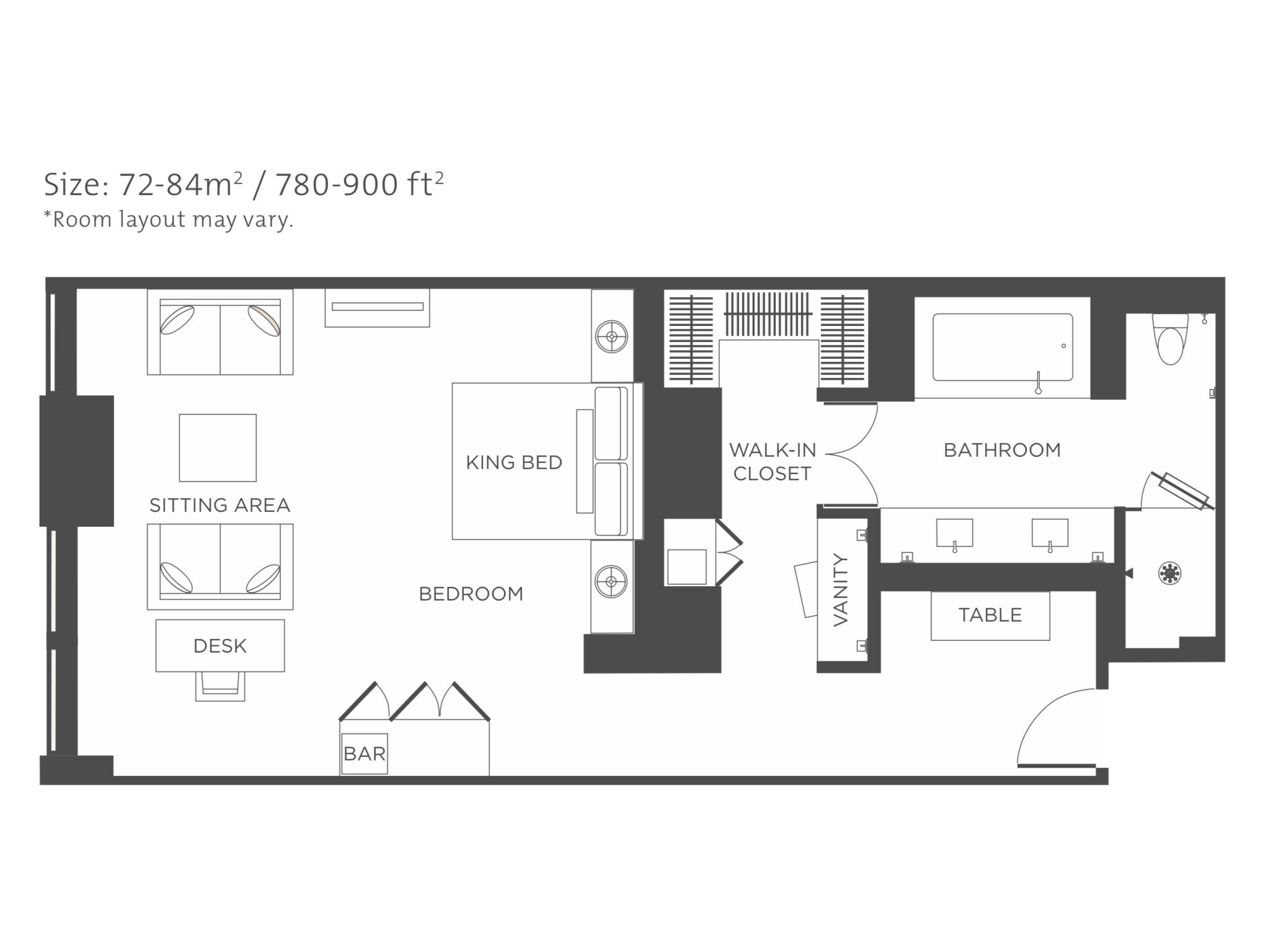 The Langham New York Fifth Avenue Junior Suite In 2020 Hotel Floor Plan Hotel Floor Room Layout