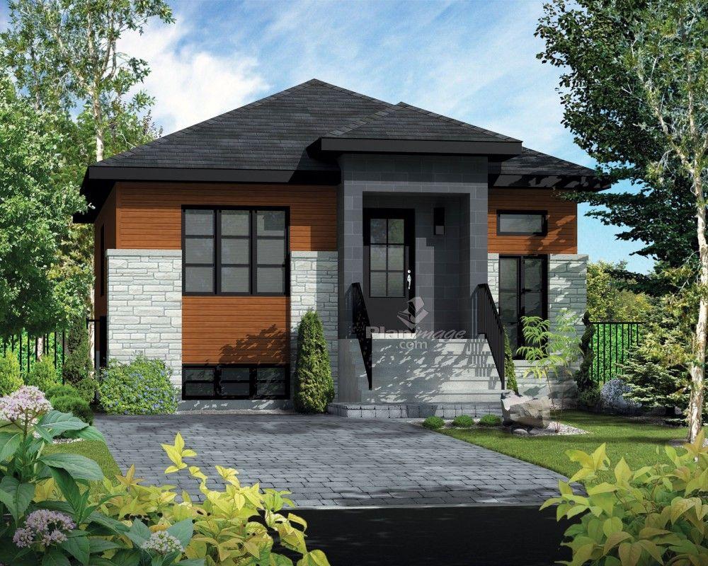 De style résolument urbain, cette maison de plain-pied au revêtement de briques, d…   Maison ...