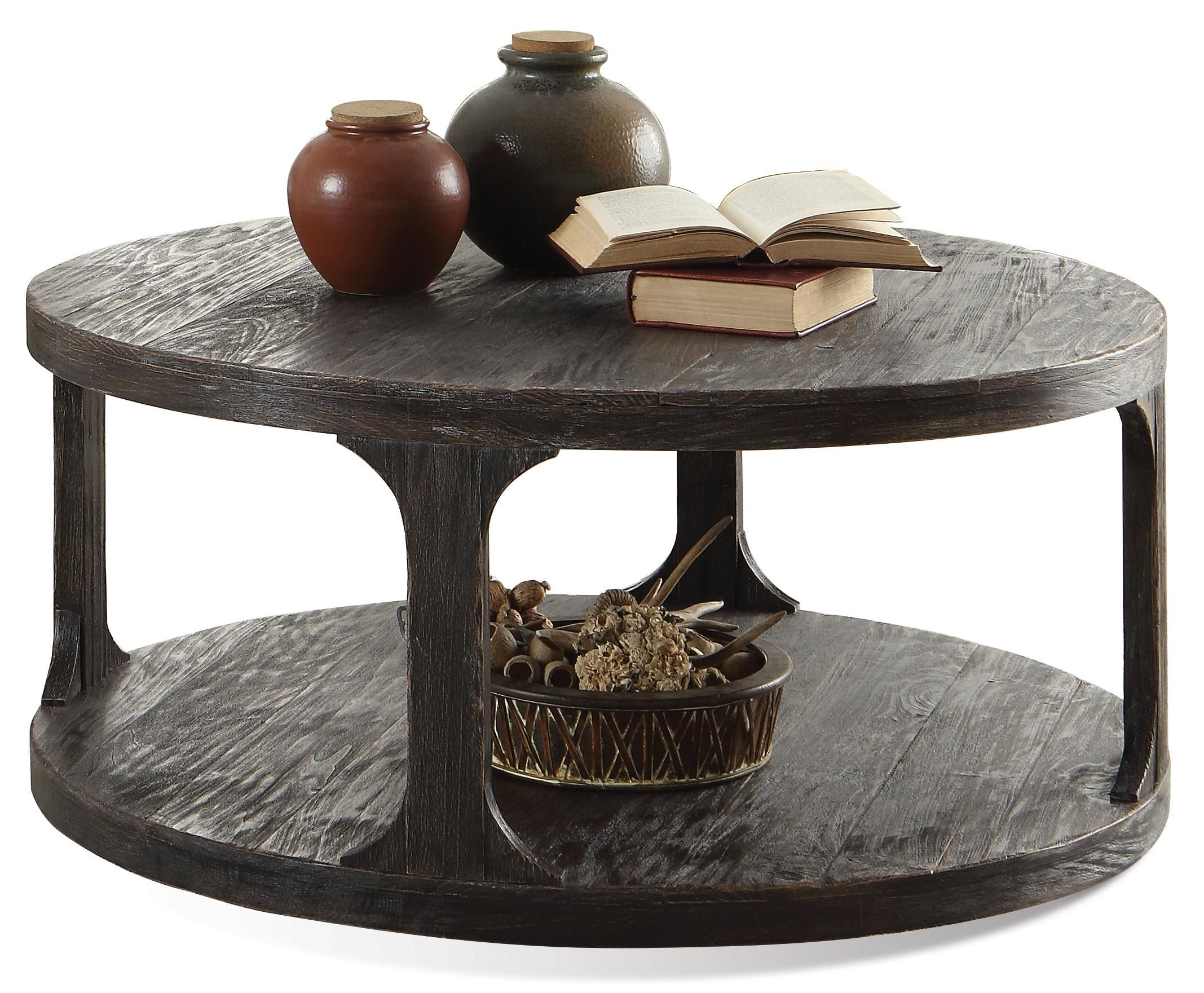 Bellagio Round Cocktail Table W Shelf By Riverside Furniture At Belfort Furniture Coffee Table Farmhouse Circular Coffee Table Home Coffee Tables [ 1761 x 2135 Pixel ]