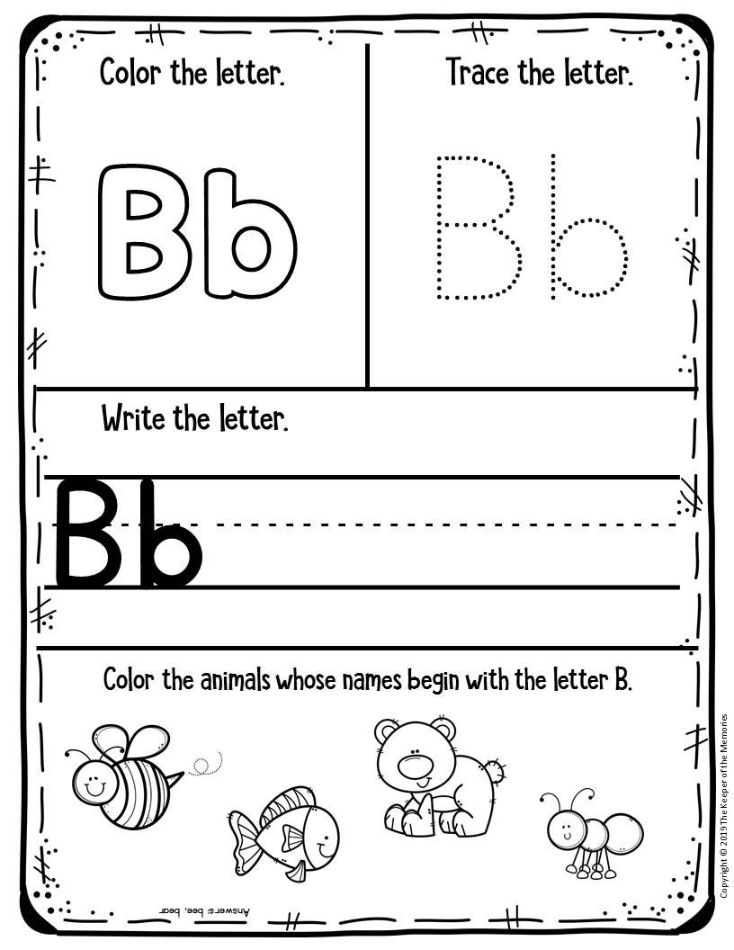 Free Printable Worksheets For Preschool Kindergarten With