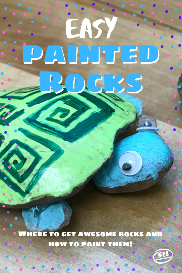 We took paint pens, sharpies and crayons on a camping trip to make these Painted Rock turtles!  #kidcraft #crafts