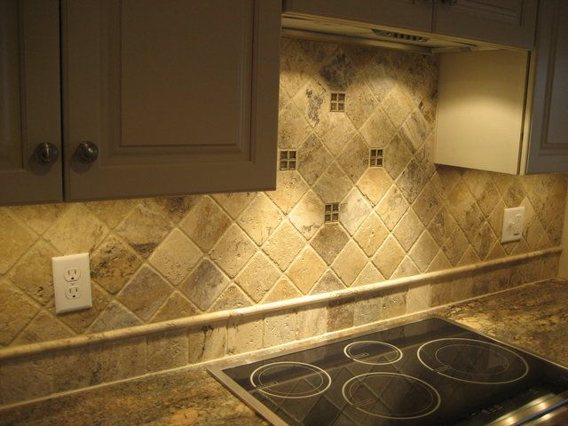 Stone Tile Kitchen Backsplash. Lovely Stone Tile Backsplash #13 ...