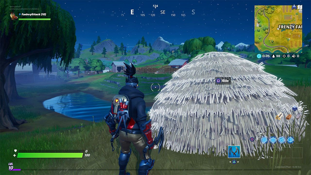 Fortnite Hide Inside Hideouts In Different Matches