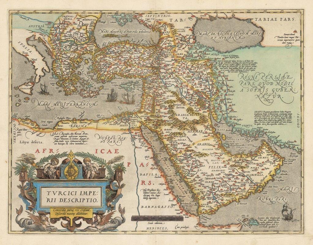 Abraham Orteliusun Atlasndan Trk mparatorluunun Tasviri