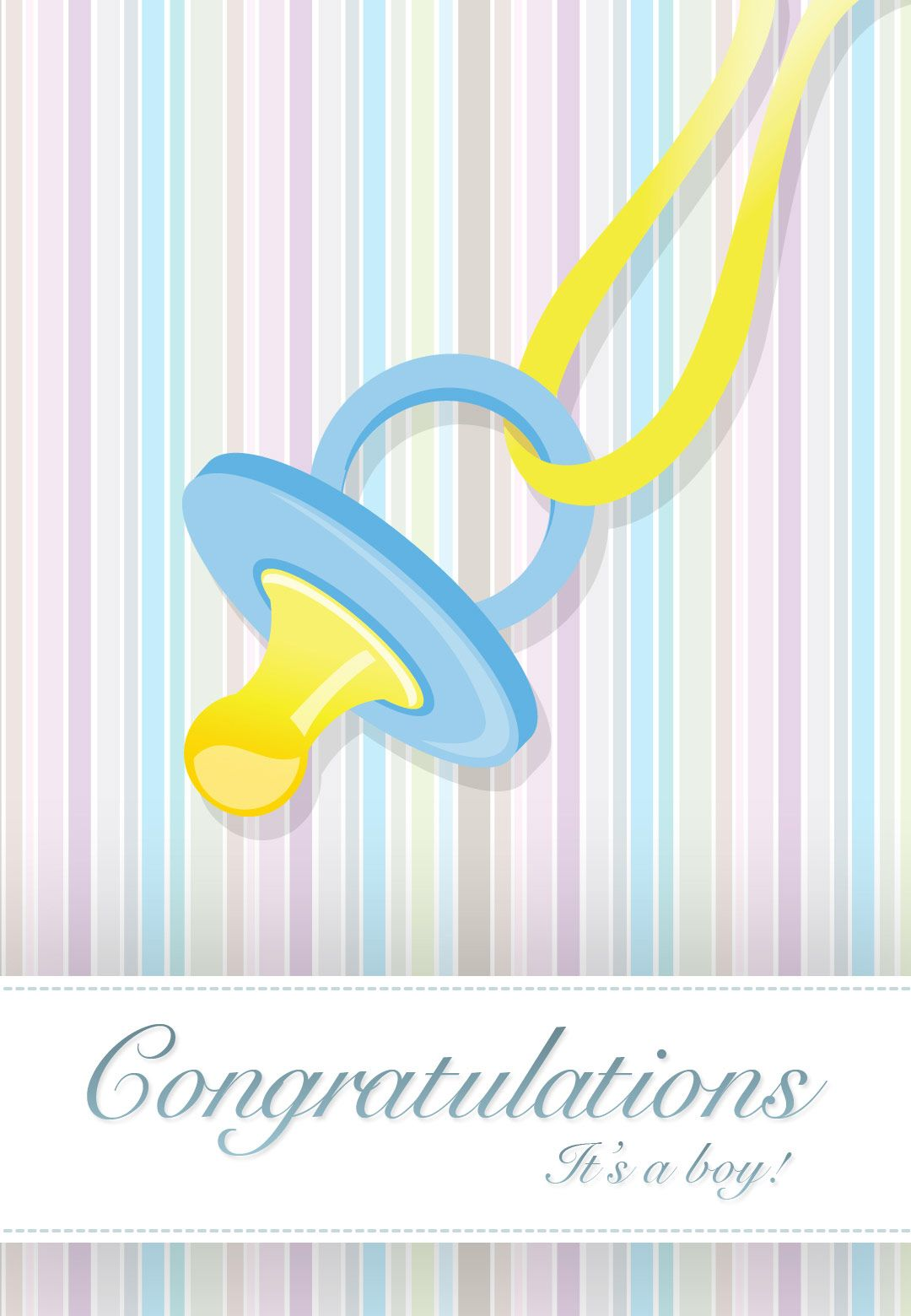 Free Printable Its A Boy Greeting Card Baby Scrapbook