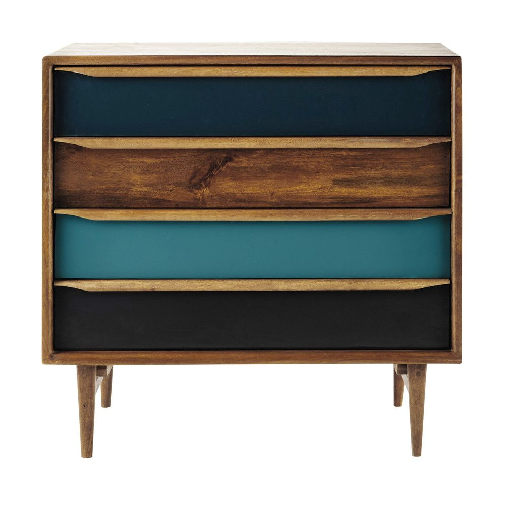 Kommode im Vintage-Stil aus gebeiztem Mangoholz, B 86 cm | Möbel ...