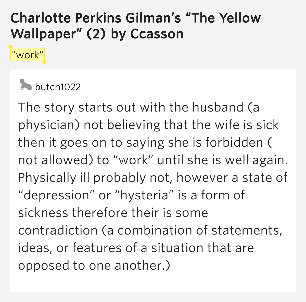 Paper Charlotte Perkins Gilman The Yellow Wallpaper Essay Prompts  Paper Charlotte Perkins Gilman The Yellow Wallpaper Essay Prompts Photo  Collection