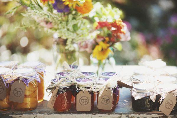 honey and jam favors